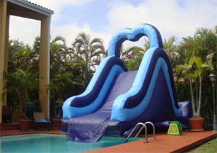 Inflatable Water Slides Into Pools