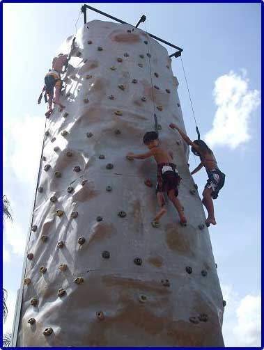 Rock climbing wall