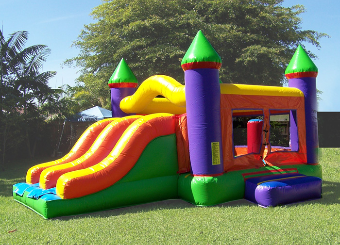 Bounce houses combo slides dry slides mega slides for Party house for sale